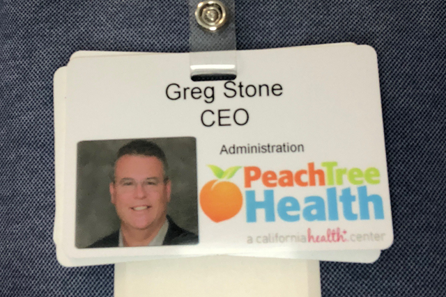 an image of Greg Stone's Peach Tree Health badge